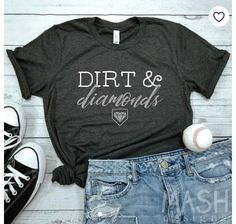 Over 15 baseball mom shirts for game day or that end of year tournament! Every proud sports mom needs at least one good baseball tee. Softball Mom Shirts, Aunt Shirts, Softball Coach, Softball Clothes, Tee Shirts, Girls Softball, Fastpitch Softball, Vinyl Shirts, Sports Shirts