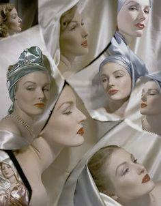 Photographer Horst P. Horst For Vogue, May 1943 Vintage Glamour, Vintage Love, Vintage Beauty, Vintage Hats, Vintage Clothing, Vintage Style, Richard Avedon, Peter Lindbergh, Pierre Balmain