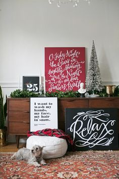 """O Holy Night Canvas by Lindsay Letters """"O holy night, the stars are brightly shiningIt is the night of our dear Savior's birth!"""""""
