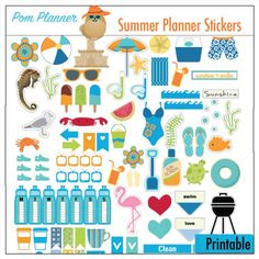 FREE Planner Stickers & Bible Journal Margin Strip Printable. New Summer…