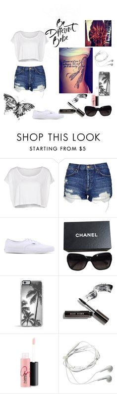 """Mogę się za­bić, ale na myśl, że mógłbym nie is­tnieć wca­le, zim­no mi się ro­bi z przerażenia."" by katrinamil on Polyvore featuring moda, American Apparel, Topshop, Vans, Chanel, Zero Gravity, Bobbi Brown Cosmetics, MAC Cosmetics i Samsung"