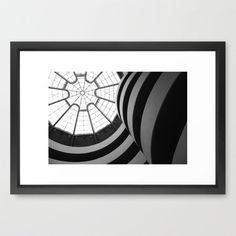 Let this print aim your gaze up through an architectural masterpiece. The contrast between dim, curving stripes and bright, angular skylight makes for a compelling print.  Find the Skylight Art Print, as seen in the Prints Collection at http://dotandbo.com/category/decor-and-pillows/for-the-wall/prints?utm_source=pinterest&utm_medium=organic&db_sku=SO60527