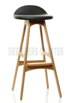 bar stool scandinavian design beech ml42 by lassen house