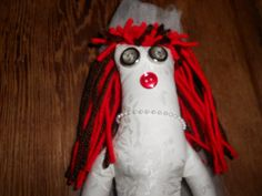 Red Headed Bride Doll by tobeesgifts on Etsy, $21.95