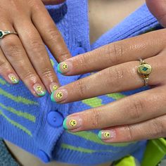 French Tips, Nail Inspo, Smiley, Claws, Class Ring, Nail Art, Candy, Nails, Face