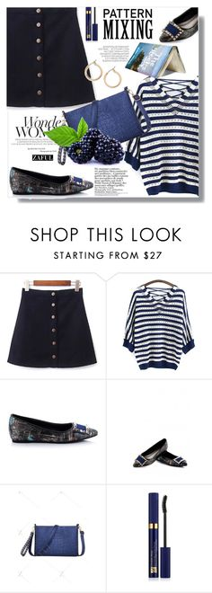 """""""Pattern Mixing"""" by sans-moderation ❤ liked on Polyvore featuring Anja, Hedi Slimane, Estée Lauder and Nordstrom"""