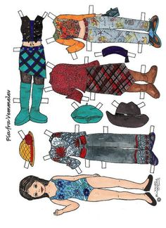 Pia Paper Dolls, Passion, Sink, Girls, Paper Puppets