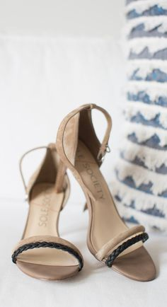 Taupe/Black Strappy Heel
