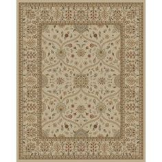 Style Selections�Valencia 7-ft 10-in x 9-ft 10-in Rectangular Beige Floral Area Rug