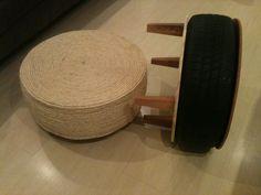 Puff de pneu e sisal