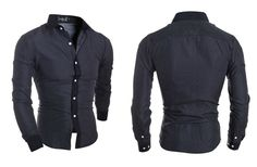 Camisa Casual Slim Fit Fashion Little Points