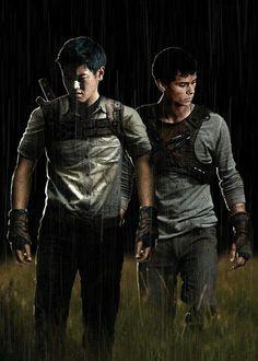 Minho and Thomas // The Maze Runner