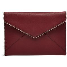 Rental Rebecca Minkoff Handbags Port Red Leo Clutch (20 CAD) ❤ liked on Polyvore featuring bags, handbags, clutches, bolsas, red, handbags clutches, red purse, envelope purse clutch, envelope clutch and envelope clutch bag