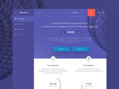 Hey there! Here is WIP shot of the main page of my first dashboard project. Like?  Behance Facebook Twitter