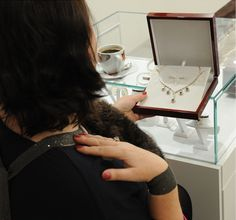 Client is really happy with our necklace, are You? #necklace #gold #diamonds #bracelet #ring #shopping
