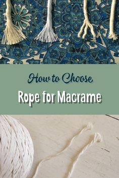 So this is a question i get asked a lot macrame in its modern form is often done with a white or cream cotton rope but which rope you ask ok so there's basically all sorts to choose from i mean you can pretty much knot any length of cord twine or rope of Macrame Curtain, Macrame Plant Hangers, Macrame Cord, Macrame Jewelry, How To Macrame, Macrame Thread, Macrame Wall Hangings, Macrame Modern, Macrame Projects