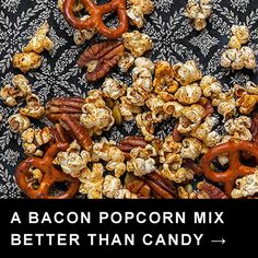 Popcorn Party Mix @keyingredient #bacon