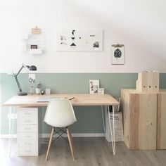 √ 21 Most Popular Study Table Designs and Children's Chairs Today. √ 21 Most Popular Study Table Designs and Children's Chairs Today. Study Table Designs, Study Room Design, Mesa Home Office, Home Office Desks, Home Office Table, Office Furniture, Home Office Organization, Organization Ideas, Office Interiors