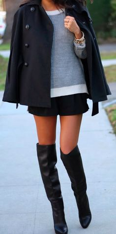 Fashion 101: cape x OTK boots