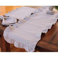 Xia Home Fashions Ruffle Trim Table Napkin