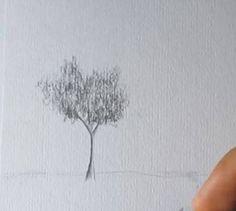 Paso 3 para aprender a dibujar paisajes a lapiz