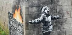 Banksy Port Talbot artwork to feature in town's new museum Michael Sheen, Canvas Frame, Canvas Wall Art, Canvas Size, Arte Banksy, Banksy Artwork, Graffiti, New Museum, Street Artists