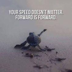 Forward is forward.
