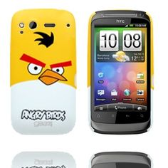 Angry Birds (Gul) HTC Desire S Cover