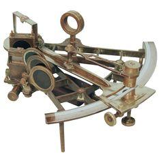 Scottish Brass Sextant by David Stalker, With Original Box