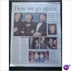 ABBA - Mamma Mia Here We Go Again 5th anniversary Clippings magazine feature
