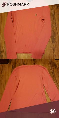 Ralph Lauren Sport long sleeve shirt A few stains on the front end as shown in the picture Ralph Lauren Tops Tees - Long Sleeve