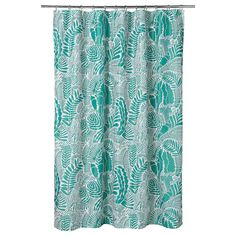 """GATKAMOMILL Shower curtain, turquoise, white, 71x71"""" - IKEA Shower Curtain Rings, Bathroom Shower Curtains, Curtains Without Sewing, Recycling Facility, Ikea Family, Shower Accessories, Curtains With Rings, Curtain Rods, Home"""
