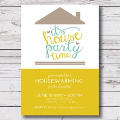 printable housewarming / new home / first home / house party invitation