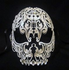 skull mask by Cocone on Etsy, absolutely gorgeous! I love this kind of metal work