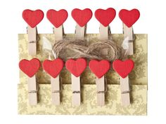 Heart Pegs and Line