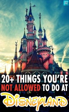 Before you finish planning your family vacation to Disneyland, make sure you're aware of these 25 oddly specific tips and rules about things you're NOT allowed to do at a Disney park.