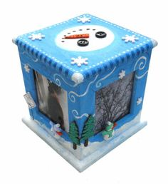 Snowman Cube Frame  Bring your Christmas frame to life!