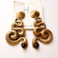 Rare Joseff of Hollywood Gold Snake by Vintageby1980sExcess