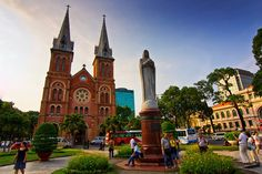 Ho Chi Minh City Full-Day Saigon Tour Including Cu Chi Tunnels in Vietnam Asia Notre Dame Basilica, Ho Chi Minh City, Asia Travel, Cool Places To Visit, Southeast Asia, Day Trips, Barcelona Cathedral, Tours, Stalls