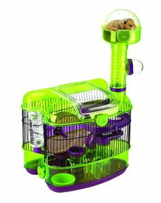 Shop for JW PetVille Habitat Paradisio Small Animal Cage. Get free delivery On EVERYTHING* Overstock - Your Online Small Animal Supplies Store! Hamster Habitat, Hamster Cages, Hamster House, Diy Hamster Toys, Hamster Ideas, Hamster Stuff, Small Animal Cage, Small Animals, Small Rat