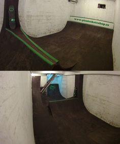 Underground skateboard ramp in Picnic Skateshop!