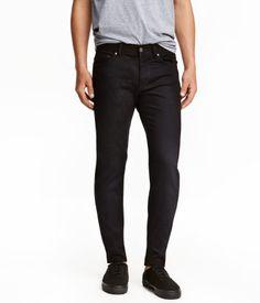 Slim Low Jeans   Black   Men   H&M US