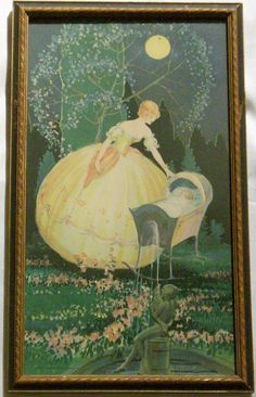 1920's Art Deco Framed Lithograph Print  by EvenStephenAntiques