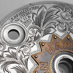Engraved drum brake by Four Dimensions Studio | Japan
