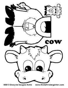 Inek şablon Boyama Okul Sütü Akıl Küpü Yaptıklarım 1 Sınıf