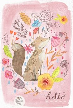 Fox and Flowers (24 pieces)