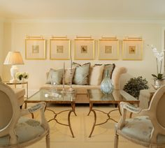 Traditional living room design featuring wrought iron coffee table ...