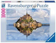 Puzzle Mont Saint Michel ( Ref: 0000019647 ) Puzzle Shop, Free Puzzle, St Michael's Mount, Ravensburger Puzzle, Thick Cardboard, Puzzle 1000, Mont Saint Michel, Puzzle Pieces, Jigsaw Puzzles