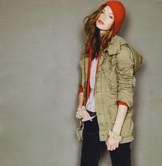 loving this relaxed look... & I have a coat just like that...