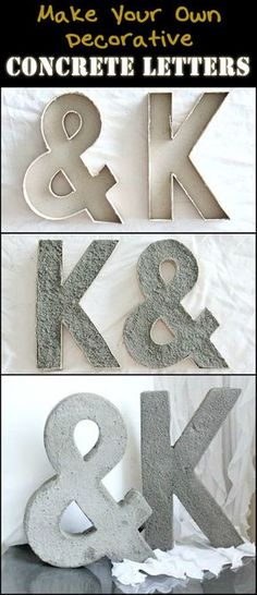 How to Make Your Own Decorative Concrete Letters
